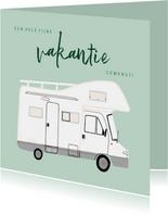 Leuke vakantiekaart fijne vakantie met camper illustratie