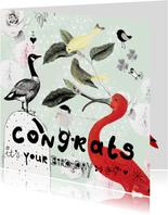 Leuke verjaardagskaart 'It's your birdday!' Met vogels