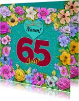 Leuke verjaardagskaart met aanpasbare cijfers voor de jarige