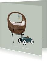 Lief felicitatiekaartje voor de geboorte van een baby