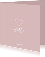 Geboortekaartjes - Lief geboortekaartje meisje illustratie hart