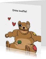 Liefde dikke knuffel kaart