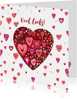 Liefde gekleurde hartjes