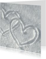 Liefde Hartjes in de sneeuw