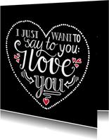 Liefde - I love you black