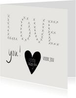 Liefde kaart 1000 kusjes
