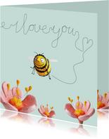 Liefde kaart bijtje