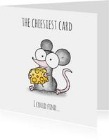 Liefde kaart muisje - The cheesiest card I could find