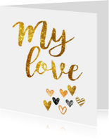 Liefde kaart my love