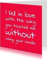 Liefde kaart you touched me