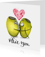 Liefde kaarten Olive you
