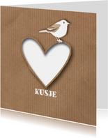 Liefde - Paper Heart Bird - MW