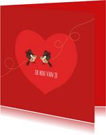 Liefde - twee roodborstjes