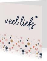 Liefde - veel liefs bloemen hartjes
