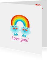 Liefde wolken Emoji