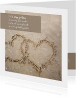 Liefde zandhartjes