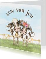 Liefdekaart cow van jou