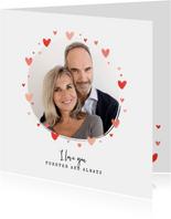 Liefdekaart foto hartjes persoonlijk liefde