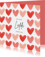 Liefdekaart liefde hartjes fijne valentijn roze rood