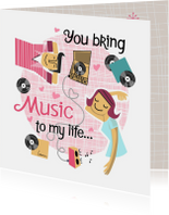 Liefde kaarten - Liefdekaart met muziek