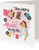 Liefdekaart met muziek