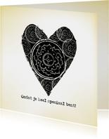 Liefdekaart Vintage Heart