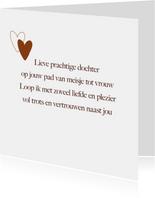 Liefdekaart voor mijn dochter