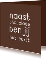 Liefdeskaart grappig chocolade