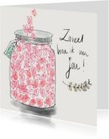 Liefdeskaart Hartjes