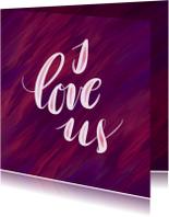 Liefdeskaart I love us