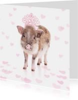 Liefdeskaart - Love biggetje