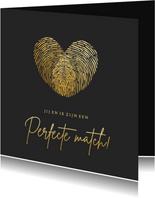 Liefdeskaart met vingerafdrukken - perfecte match!