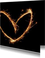 Liefdevol Vuurwerk hart