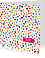 Zomaar kaarten - liefs hartjes hart mini -BF