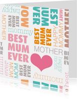 Liefste moeder tekst in engels