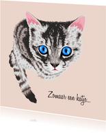 Lieve dierenkaart kat