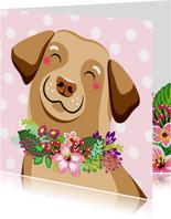 Lieve hond verjaardagskaart
