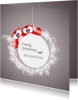 Kerstkaarten - Lieve kerstkaart beter jaar met sterren en dieren