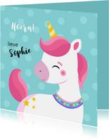 Lieve unicorn verjaardagskaart