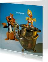 Loeki de Leeuw speelt tuba