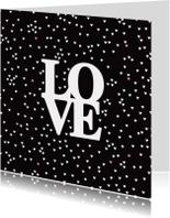 Love hartjes zwart wit valentijn