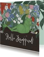 Luie Kikker met bloemen