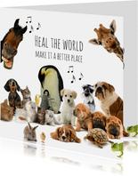 Lustige Karte Gute Besserung mit Tieren