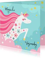 Magische unicorn verjaardagskaart