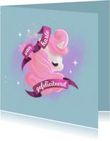 Magische verjaardagskaart met lieve eenhoorn