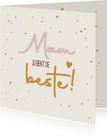 Mam de beste - pure touch - moederdagkaart