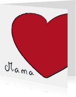 Mama hart rood