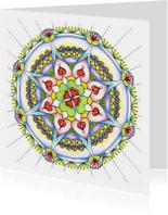 Mandala kaart Veel Geluk
