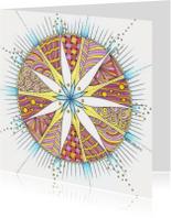 Zomaar kaarten - Mandala kleurig