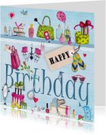 Meiden spullen Happy Birthday Meisje Bl